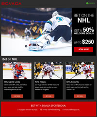 Bovada NHL Hockey Screenshot