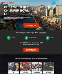 Bovada Super Bowl Promotion