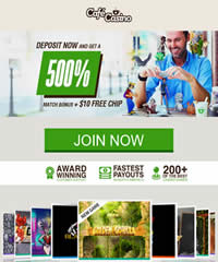 500% Promotion At Cafe Casino