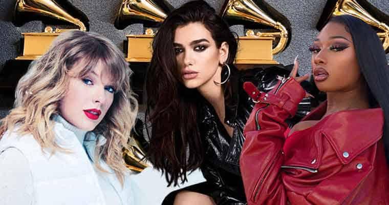 63rd Grammy Awards Odds Favor Taylor Swift Megan Thee Stallion Dua Lipa