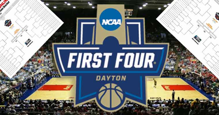 March Madness Brackets and an icon for the First Four of the NCAA Men's Tournament