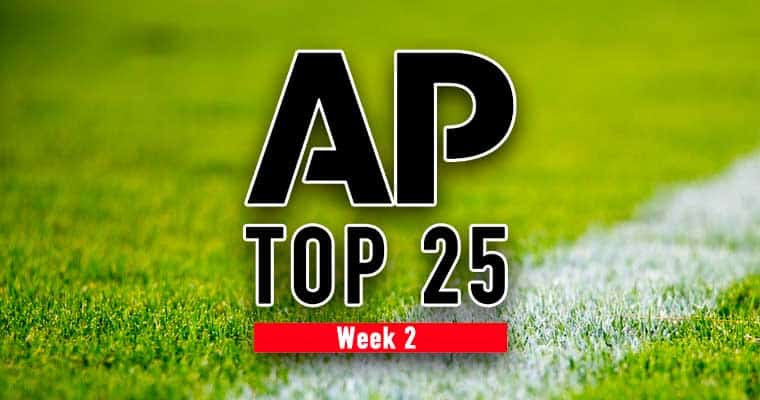 top 25 week 2 college football