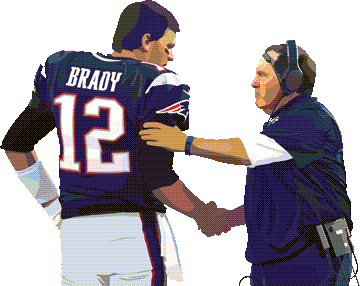 Tom Brady and coach