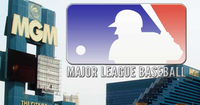 MGM & MLB Logos in the sky