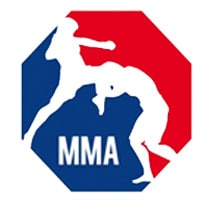 MMA logo red and blue