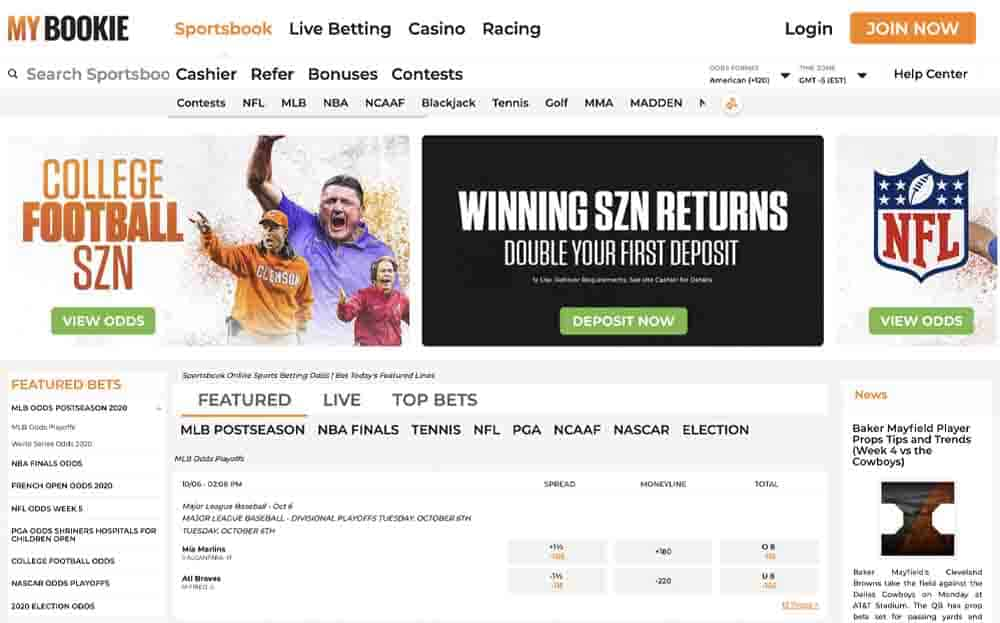 MyBookie screenshot sports