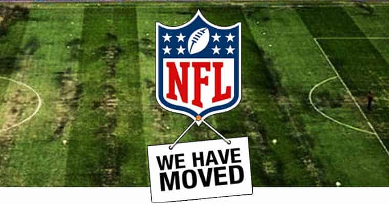 NFL moving sign