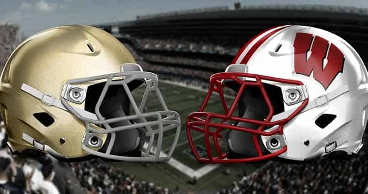 NCAAF odds for Notre Dame vs Wisconsin betting