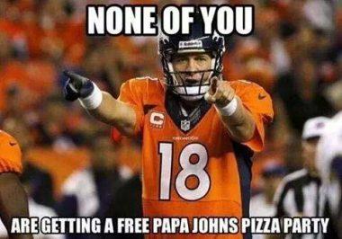 Peyton threatens pizza