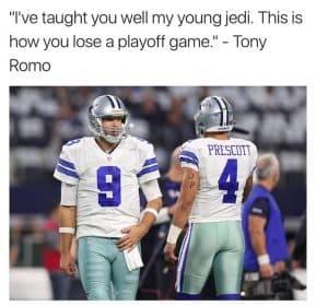 Romo playoff loss