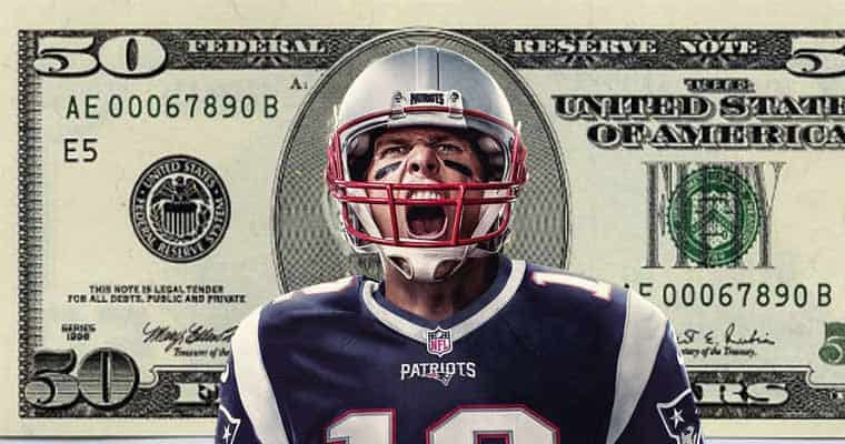Tom Brady on a $50 bill