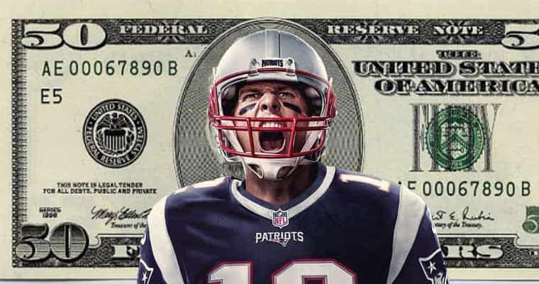 Tom Brady on a $50 bill