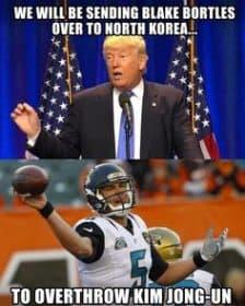 Trump sends Blake