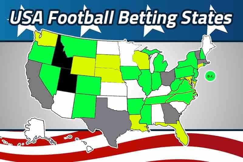 2021 USA football betting states