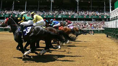 Kentucky Derby start of race