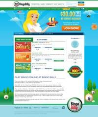 Screenshot Of Bingo Billy Website