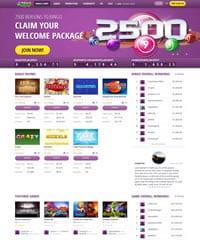 Homepage Screenshot Bingoformoney
