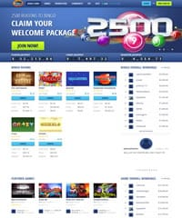 Bingo Hall Homepage Screenshot