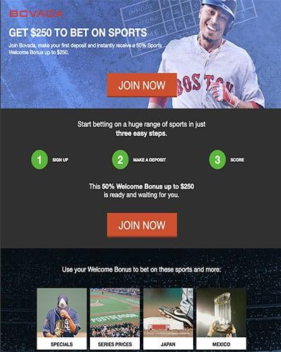 Bovada Baseball Promotion