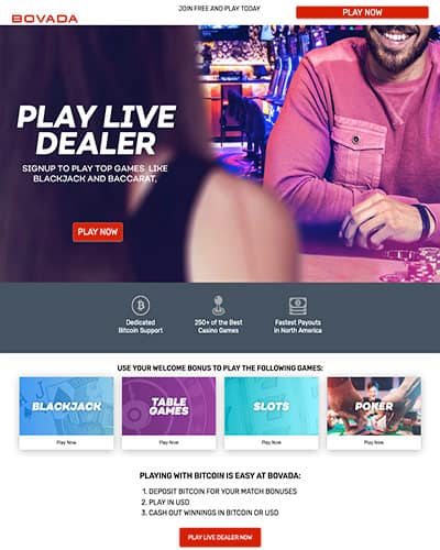Bovada Live Dealer Review