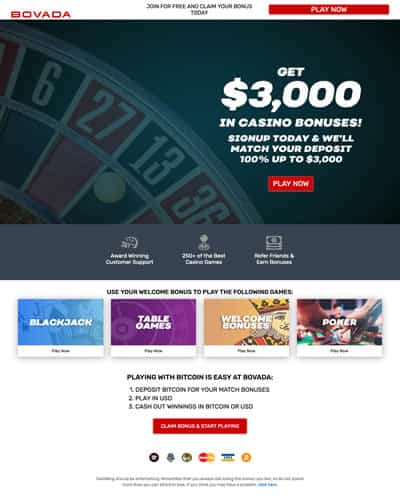 Bovada Casino Screenshot