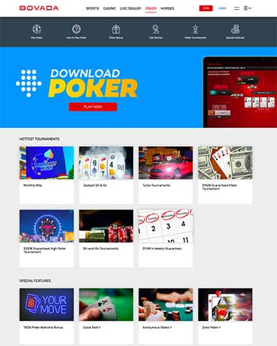 Bovada Poker Screenhot