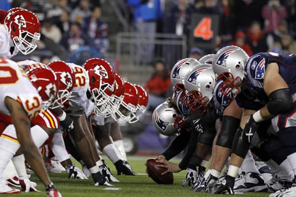 Chiefs versus the Patriots