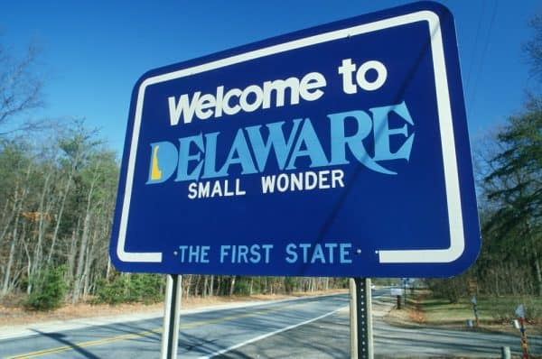 Delaware State Road Sign