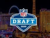 NFL Draft 2020 logo in front of Las Vegas skyline