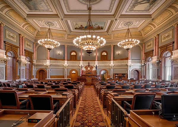 Kansas State Capitol House of Representatives Chamber
