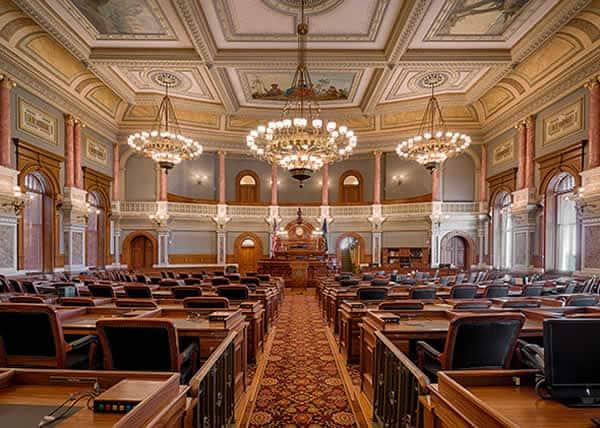 Kansas State Capitol House of Representatives Chamber