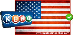Keno Icon With USA Flag