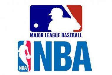 MLB and NBA logo