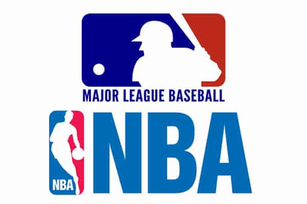 MLB and NBA logo