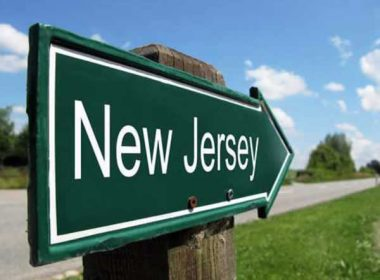 Arrow Sign that says New Jersey