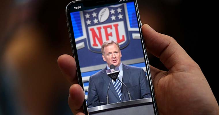 Roger Goodell on a cell phone video