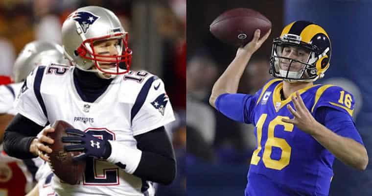 Tom Brady and Jared Goff