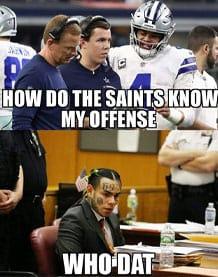 Saints meme