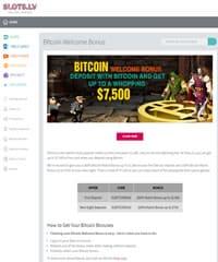 Slots.lv Bitcoin Page