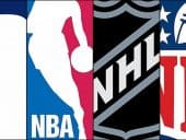 NFL NBA MLB NHL logos