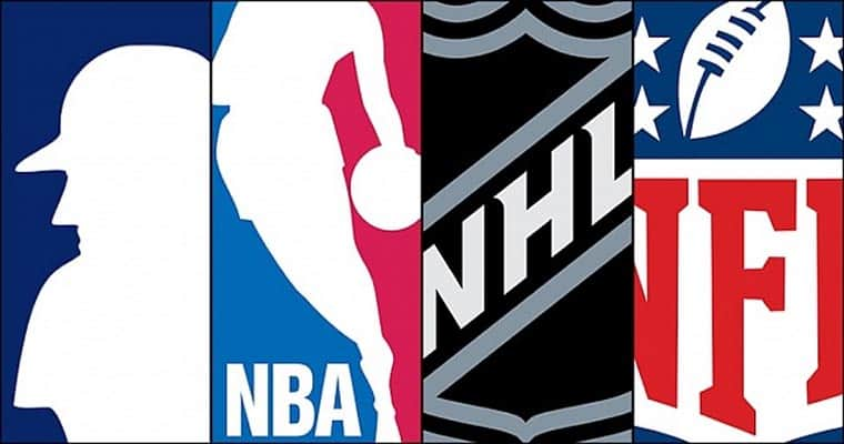 NFL NBA MLB NHL logos