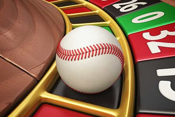 Baseball on roulette wheel