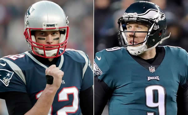 Tom Brady and Nick Foles