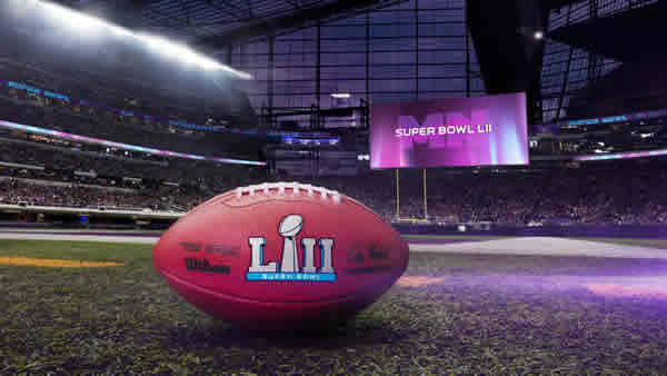Super Bowl Logo on foootball