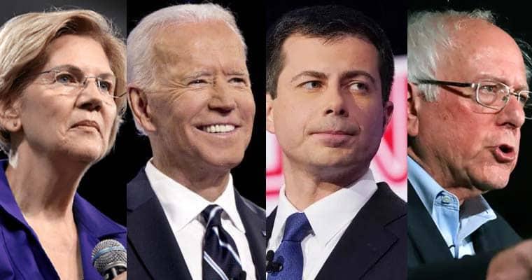 democrats facing trump warren biden buttigieg sanders