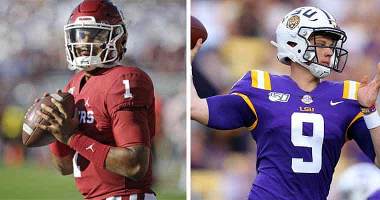 jalen hurts joe burrow heisman