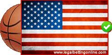 USA Flag With Basketball