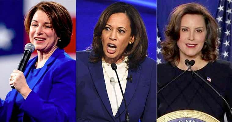 Amy Klobuchar, Kamala Harris and Gretchen Whitmer